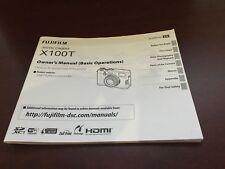 FUJIFILM X100T Digital Camera User's Manual Guide Book Brand New. Never Used