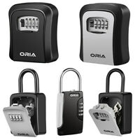 Wall Mounted/Padlock 4-Digit Combination Key Lock Storage Safe Security Code Box