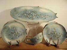 Céramique Vintage 50 Rare Service à Poisson Signé D.Guillot éra Vallauris
