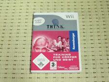 Think Logik Trainer Training Für Körper und Geist für Nintendo Wii *OVP*