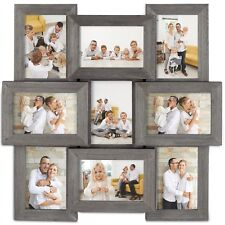 VonHaus 9x Decorative Collage Picture Frames for Multiple 4x6 Photos Wooden Gray