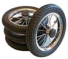 4 x Pushchair Wheel 12 1/2 Inches, 62 - 203 with Metal spokes, ball bearings
