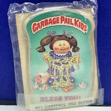 Garbage Pail Kids pinback button pin vtg 1986 sealed topps Messy Tessy Bless You