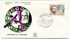 1976 Premier Jour D'Emission Centenaire Telephone Monaco SPACE NASA SAT