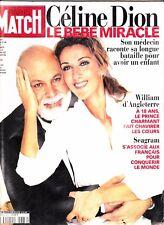"Celine Dion ""Rare"" Paris Match Magazine June 2000 With Rene"