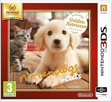 Nintendo 3DS Game Nintendogs + Cats Golden Retriever 2DS Compatible NEW