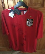Xmas Gift Umbro Signed Red England Football Shirt with Tags adults large ManCave
