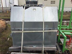 Galvanized Steel Dump Hopper, 57 Cubic Feet (2.11 Cubic Yards), for Dry Powder