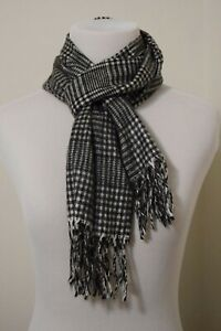 VTG. Christian Dior Monsieur Gray Stripe Plaid Cashmere Scarf