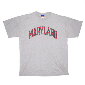 CHAMPION Maryland Grey Regular USA Short Sleeve T-Shirt Mens XL