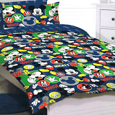 Mickey Mouse - Disney - circles - Single/US Twin Bed Quilt Doona Duvet Cover Set