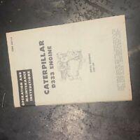 CATERPILLAR CAT ENGINE D333 OPERATION MAINTENANCE 58B1-UP