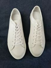 Beckett Simonon Reid Sneakers Full Grain Leather Black/White Size 10 M