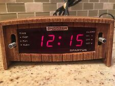 Vintage 1979 Spartus Red LED Retro Old School  Alarm Clock  Model 21 3012 400