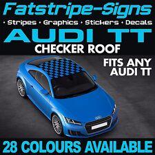 AUDI TT Checker TETTO AUTO DECALCOMANIE GRAFICHE STRISCE adesivi S Line 1.8 302 Turbo