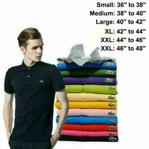 Men's Lacost^^ classic T-shirt men's logo short sleeve T-shirt Adults polo Tops