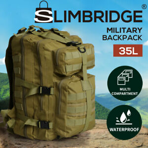 Slimbridge 35L Military Tactical Backpack Camping Rucksack Outdoor Trekking Army