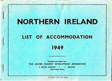 Northern Ireland List of Accomodation 1949 Ulster Tourist Development Booklet