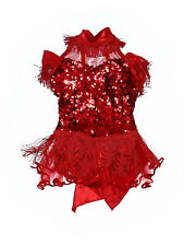 Girl A Wish Come True 18954 Hello Dolly Red Sequin Jazz Dance Costume Size MC