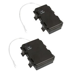 outdoor Batteriehalter 2/3x AA Mignon R6 mit EIN-AUS Schalter Batterie-Fach IP44