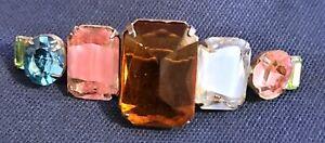 """Unique 2.5"""" Faux Gems Brooch Pin"""