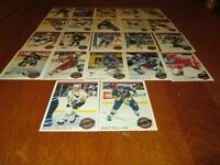 OPC PREMIER 1992-1993 / STARS PERFORMERS ( COMPLETED SET 22 CARDS)
