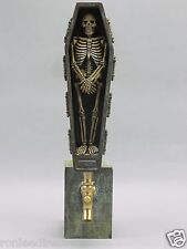 """BONES"" SKELETON IN A CASKET  BAR BEER TAP HANDLE DIRECT FROM RON LEE"