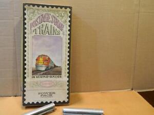 Aurora Postage Stamp Trains # 4728 Penn Central Express Diesel Pass. Set w/ Box