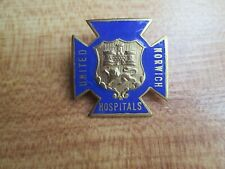 Norwich United Hospital vintage enamel nurse hospital badge
