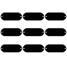 20pcs Blank Dog Tags Disc Disk Custom Name ID Collar Tags for Pet 2 Holes Black