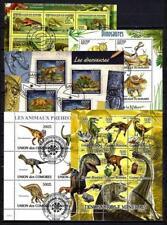 Animaux Préhistoriques lot de 10 séries oblitérés en feuillet