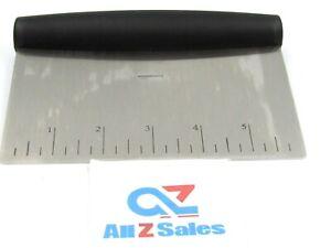 "Amazon Basics Bowl Scraper / Chopper Stainless Steel, 6"" Wide - NEW"