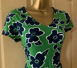 Seasalt green Penwith Bloom Pier View dress sizes 10, 16, 18 & 20