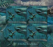 Sea & Marine Life: Great White Shark & Seal Stamp Sheet #4 (2012 Burundi)