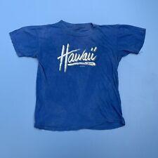 Vintage 80s Hawaii Poly Tees Tee Shirt 1983 70s Single Stitch Size S