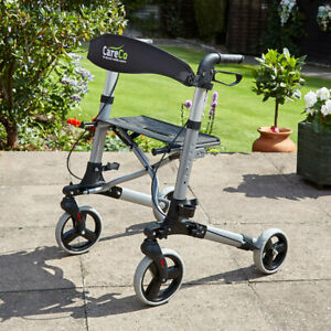 Atlas Lightweight Foldable Height Adjustable Rollator with Seat
