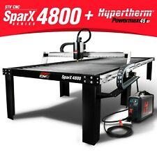 Stv Cnc Sparx 4800 4x8 Plasma Cutting Table Hypertherm Powermax45 Xp Machine
