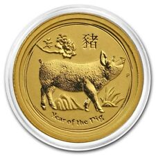 2019 ~ 1/20th~OZ. PURE .9999 GOLD ~ YEAR of the PIG ~ PERTH MINT GEM ~$178.88
