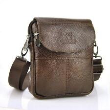 Men Women Genuine Leather Small Bags cross body Bag shoulder Messenger Purse