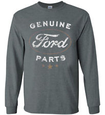 Genuine Ford Parts T-shirt Long Sleeve Men's Graphic Tee Decal Gifts for Men