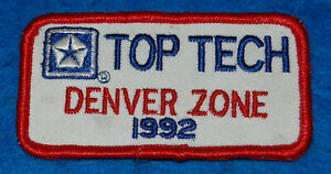 Chrysler Top Tech Denver Zone 1992 Embroidered Patch
