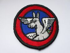 RAF/USAF squadron  cloth patch  of a winged flying  pony