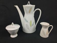Rosenthal Bunte Blatter Colorful Leaves Coffee Pot, Creamer, and Sugar Bowl