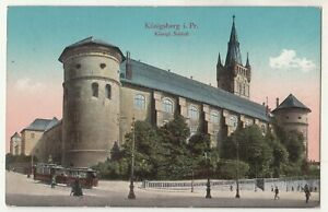 Ak Königsberg Prusse Orientale Royal Serrure Tramway 1916