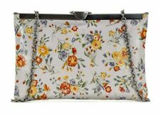 Patricia Nash Asher Frame Clutch Shoulder-Bag Mini Meadows Floral Leather NEW