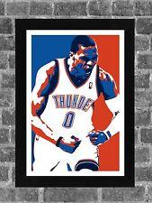 Oklahoma City Thunder Russell Westbrook Portrait Sports Print Art 11x17