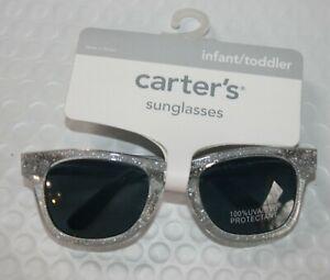 New Carter's Girls Sunglasses 100% UVA-UVB Clear Glitter Classic Stylish 0-24m