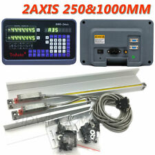 2axis Digital Readout Dro 10 40 Linear Glass Scale 2501000mm 5um Mill Lathe