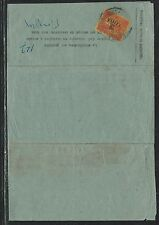 FRENCH INDOCHINA (PP2806B)TELEGRAM SENT WITHOUT STAMPS POSTAGE DUE 3C SURCH RARE