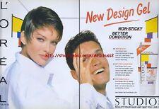 Loreal Design Gel 1993 Magazine Advert #1979